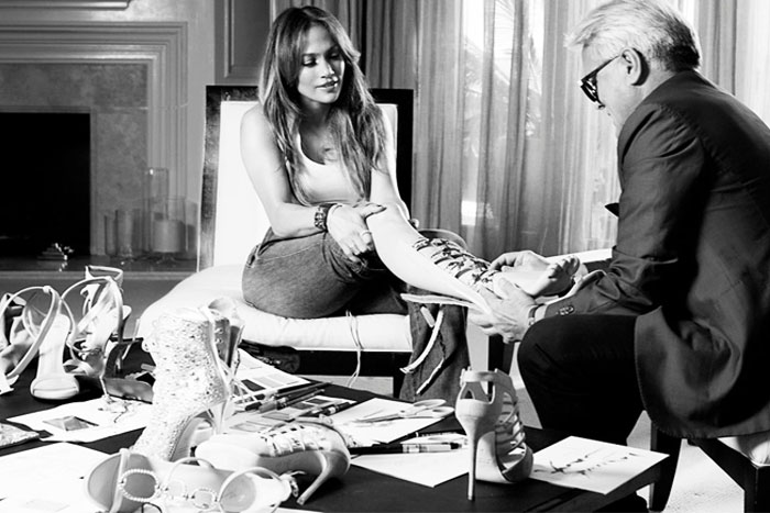 Jennifer lopez giuseppe zanotti shoes heels collaboration
