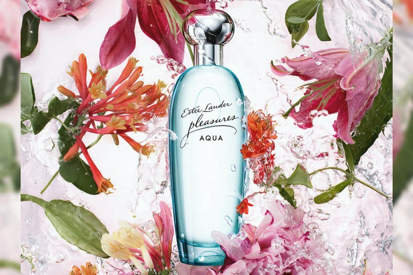 Estee lauder pleasures aqua perfume for summer